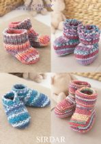 Sirdar Snuggly Baby Crofter DK - 1483 Bootees Knitting Pattern